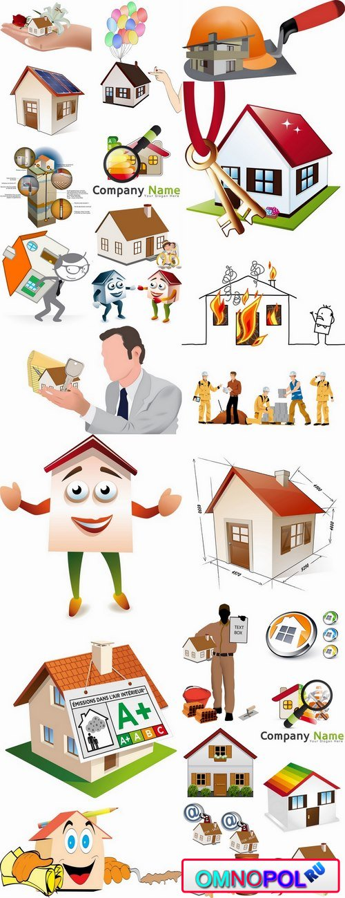 House building housing comfort homeownership vector image 25 EPS
