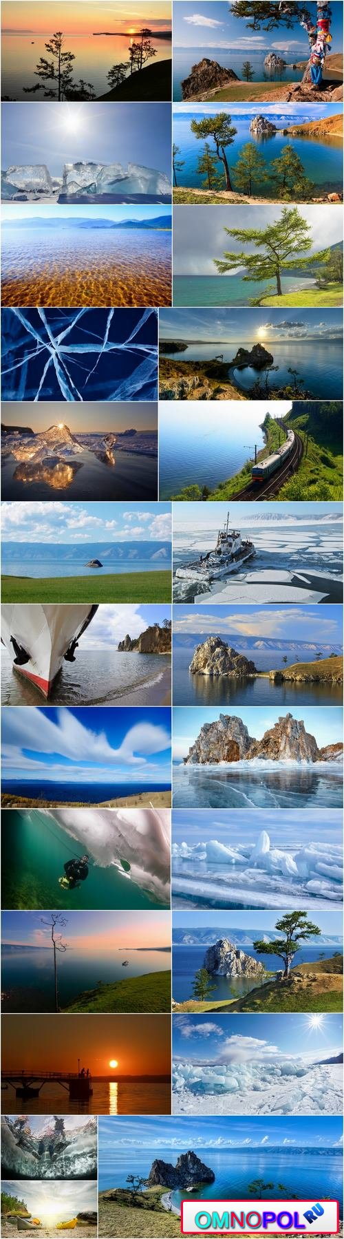 Lake Baikal nature landscape rock beach sand sunset water 25 HQ Jpeg