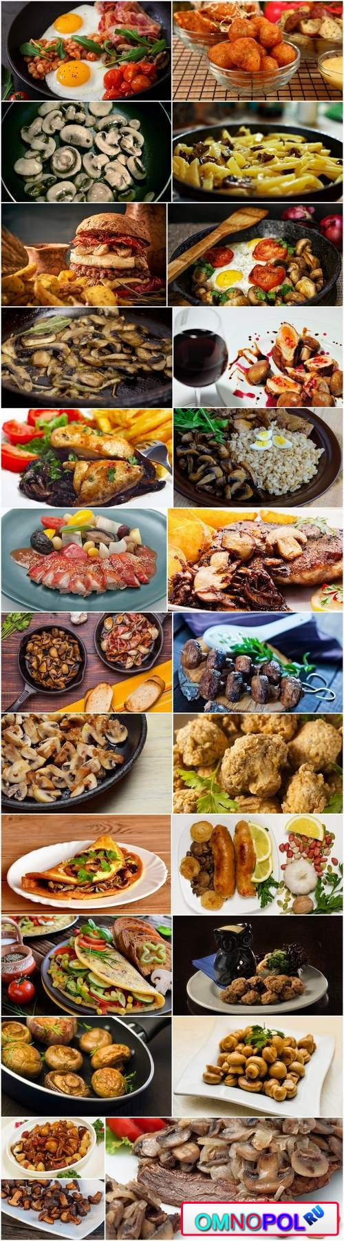 Mushrooms fried dishes with mushrooms chicken salad omelette 25 HQ Jpeg