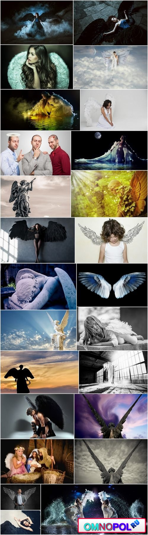 Angel wings wing conceptual illustration girl woman sculpture statue 25 HQ Jpeg
