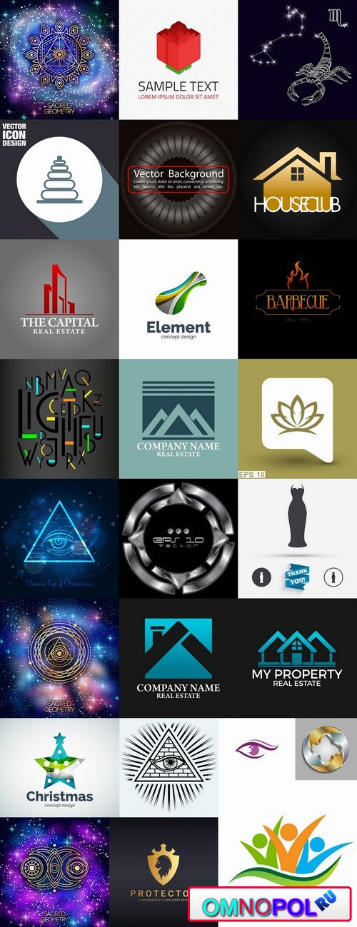 Logo icon web design element site 10-25 EPS