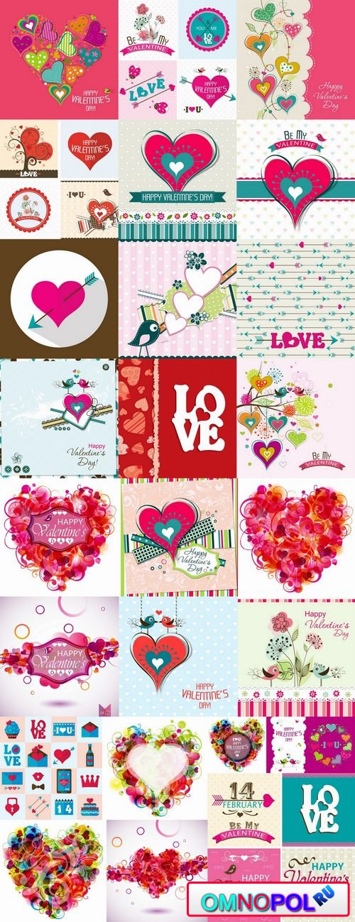 Flyer gift card Valentines Day invitation card vector image 25 EPS