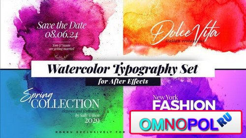 Watercolor Inks Typography 24177118 - Project for After Effects (Videohive)